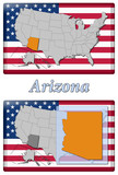 3D-Button - States of the USA