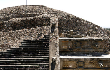 """Temple of the Feathered Serpent"" temple in Teotihuacan, Mexico"