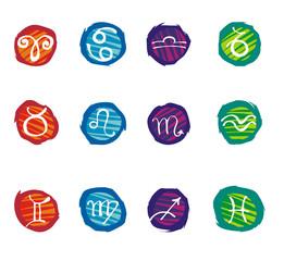 Set of zodiac signs