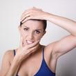 femme prise de tête stress