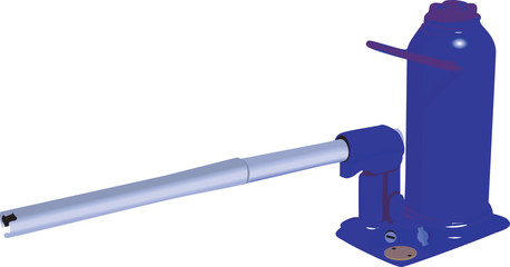 Hydraulic pump with handle