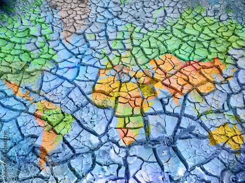 Fotobehang Droogte changement climatique
