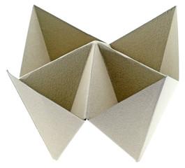 salière papier kraft fond blanc