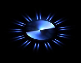 Gasflamme abstrakt