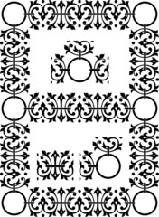 Ornamental elements (linear, corner, intersection) for framing