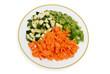 légumes frais coupés pour wok