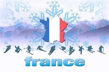 Logotipo invierno France