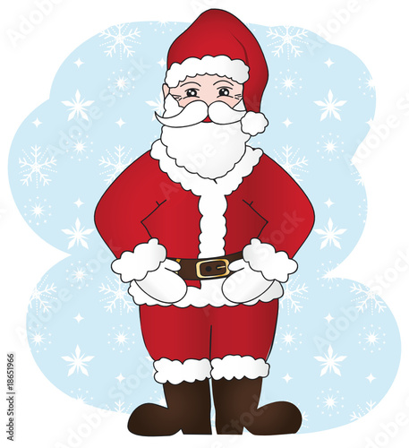 Santa Claus on a snowflakes background