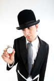 gentleman with watch poster