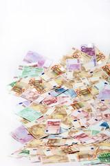 Ein riesiger Haufen Euro-Geldscheine