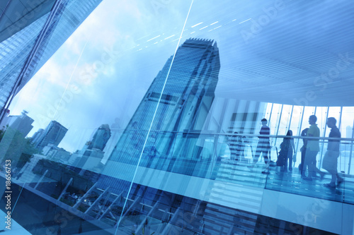 Poster Abstract modern city background