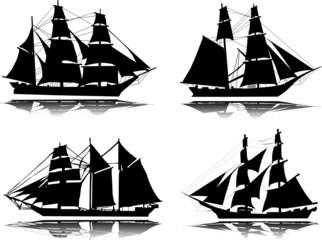 Old ship-vector
