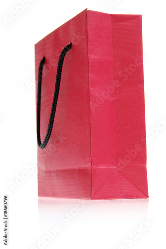 red bag isolated on white