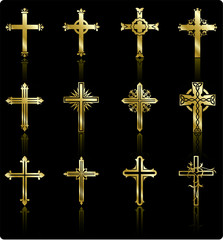 religious gold cross design collection