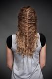 feminine hairdo poster