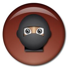 Chapa cabeza de ninja