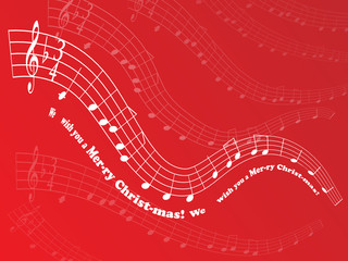 """We Wish You A Merry Christmas"" Sheet Music Background (vector)"