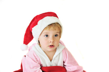 funny little Santa girl