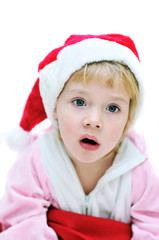surprised Santa girl