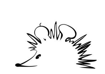 hedgehog art lines