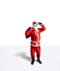 Weihnachtsmann mit Textfreiraum