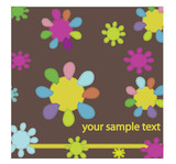 Abstract floral background for greeting card.