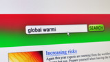 Global warming - fictional search engine poster