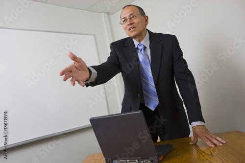 Businessman extending his hand
