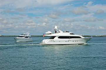 Luxury Yachts on the Florida Intercoastal Waterway