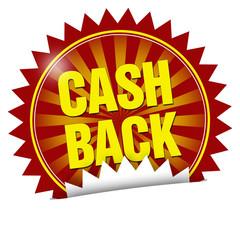 aufkleber button siegel cashback cash back geld zurück