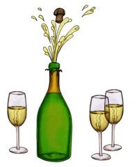 Silvester, Sylvester, Sekt, Party, feiern, Neujahr