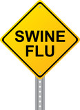 Swine Flu Yellow Road Sign Vector Image