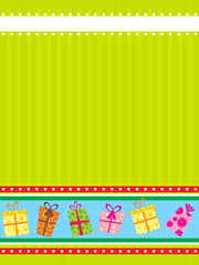 abstract green background with gifts