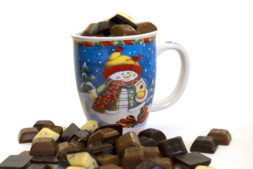 Tea Cup with chocolate