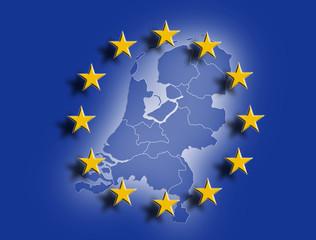 Niederlande mit Europafahne