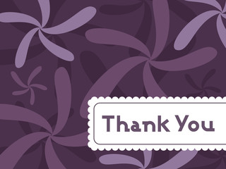 abstract floral background with thankyou text