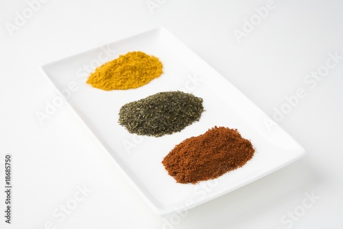 Chilli, green tea and turmeric