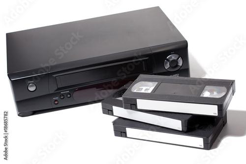 Leinwandbild Motiv video cassette recorder