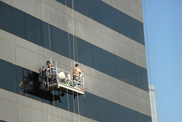 Cleaning The Plaza Windows