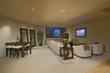 White entertainment suite in Palm Springs home