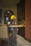 Bar stool in kitchen of Palm Springs home