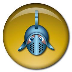 Chapa cabeza de gladiador