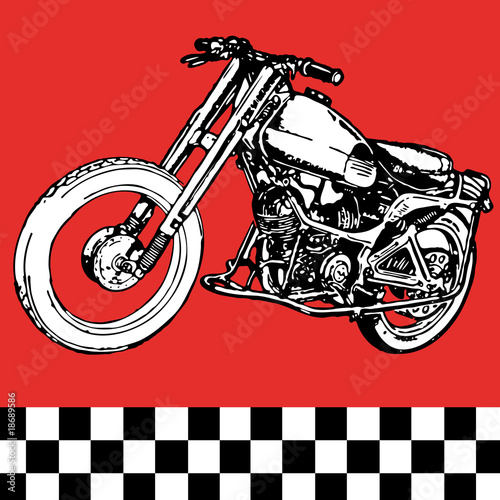 moto motocycle retro vintage classic vector illustration