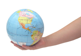 Holding world by hand