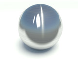 Brushed metal sphere