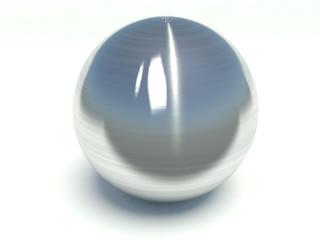 Brushed metal sphere