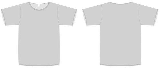Basic unisex T-shirt template vector illustration