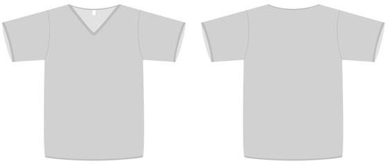 Unisex V-neck T-shirt template vector illustration