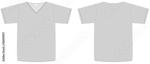 Unisex V-neck T-shirt template vector illustration