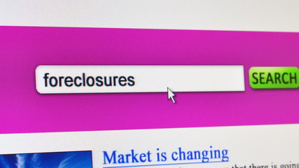 Foreclosures - fictional search showing foreclosures search